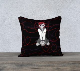 Anime Vampire Girl Goth Art Pillow By Tabz Jones preview