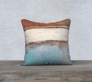 """Aperçu de Copper and Blue - 18"""" Pillow"""