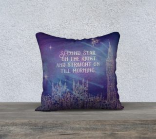 Aperçu de Peter Pan Quote Pillow - Second Star - Blue
