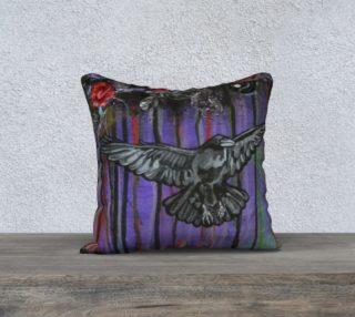 Aperçu de Crow 18 X 18 Pillow Case