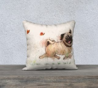The Furminator pug watercolor  preview