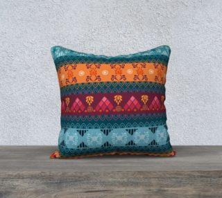 Tribal Mandala Lace Braid Print Pillow preview