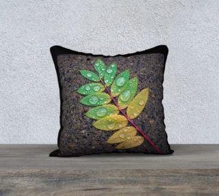 Raindrop Leaf Pillow Case 18x18 preview