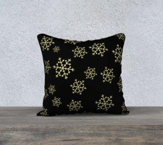 Golden Snowflakes Pillow Case preview