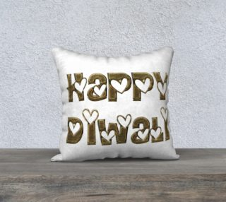 Aperçu de Festival of Lights Happy Diwali Greeting Typography Pillow
