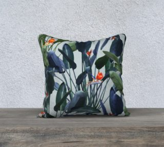 Bird of Paradise Pattern V2 Pillow 18x18 preview