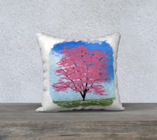 Aperçu de Flowering Tree Pillow