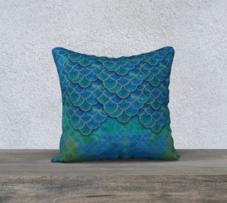 Aperçu de Mermaid Dragon Scales Pillow Cover