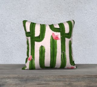 Happy Cacti Pillow 18x18 preview