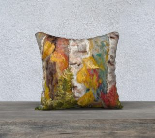 Aperçu de small forest floor pillow