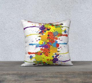 Aperçu de CRAZY multicolored double RUNNING SPLASHES pillow 18x18