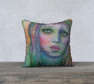 "Dajeen, the Mermaid - 18"" Pillow Cover preview"
