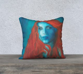 """Blue Mermaid - 18"""" Pillow Cover preview"""