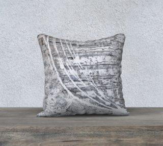 Aperçu de white &grey  abstract pillow case 18x18