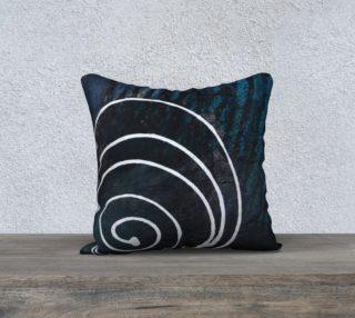 Aperçu de spiral ocean pillow case 18x18