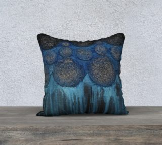 Aperçu de blue and black pillow case 18x18
