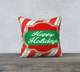 Happy Holidays Pillow Cover preview