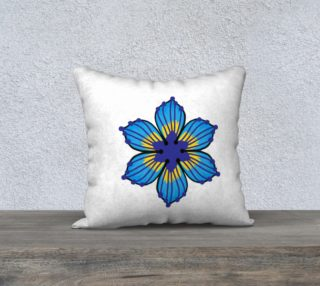 Talavera Flower 18 x 18 White case only preview