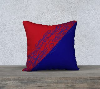 Red Blue 18 x 18 Pillow case only preview