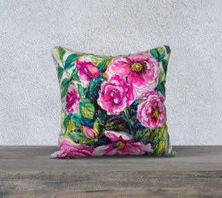 Wild Roses for You  cushion cover preview