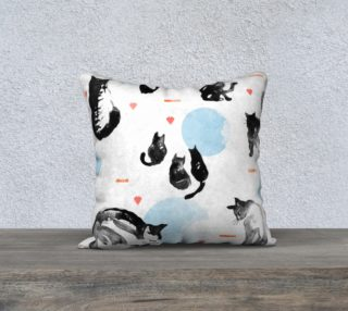 Blue Moon Cats  cushion cover preview