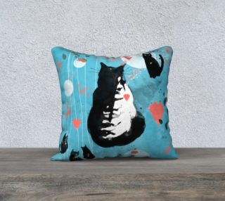 Cats Story  cushion cover preview