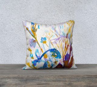 Blue Sea Weeds  cushion cover preview