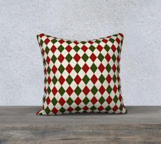 Christmas Argyle Pillow Case preview