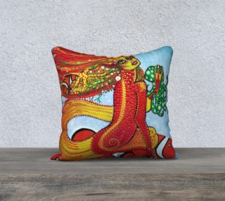 Clownfish Mermaid Pillow Cover preview