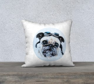 Pug dog  pillow preview