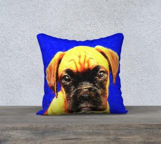 Boxer Dog 18x18 throw pillow preview