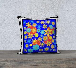 Flower Patch Blue 18 x 18 pillow case preview