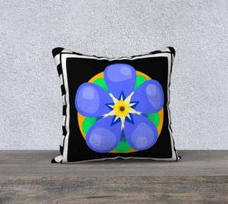 Forget Me Not 18 x 18 pillow case preview