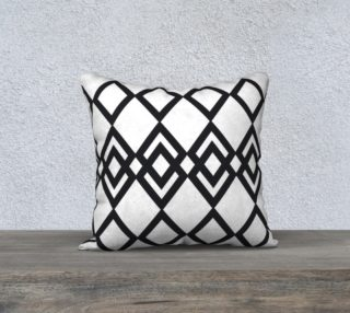 """Black Lines - Pillow 18""""  preview"""