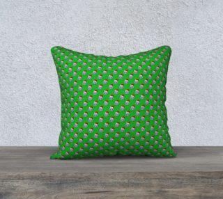Santa Hippo-Green Pillow Case preview