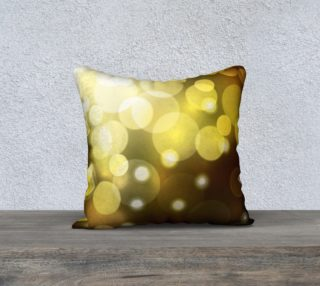 Golden bokeh pillow preview