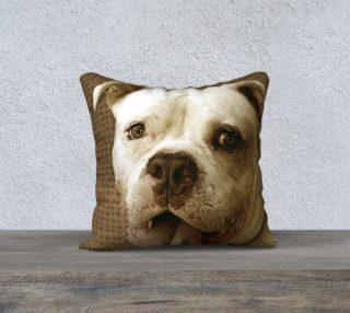 American bulldog 18x18 pillow preview