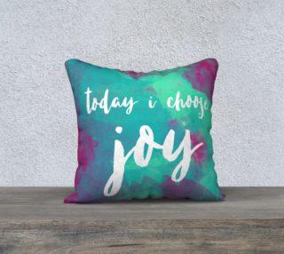 Aperçu de Today I Choose Joy Pillow - Turquoise