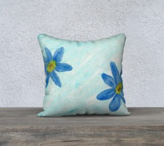 Simply Blue Flowers Pillow Case Style1 preview