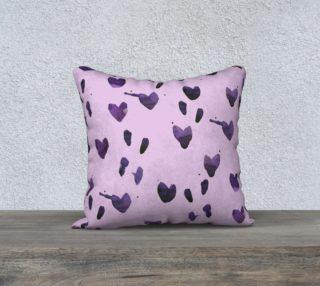 Aperçu de Purple bleeding hearts watercolor pillow