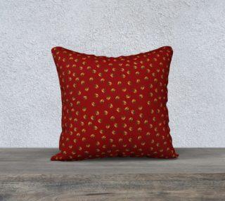 """Acorns Pattern-Sangria Pillow Case (18""""x18) preview"""