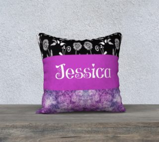 jessica white and black flowers with purple preview