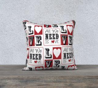 Aperçu de All You Need is Love Pillow
