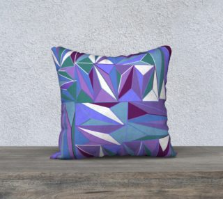Aperçu de Geometric Abstract Purple, Blue, Teal