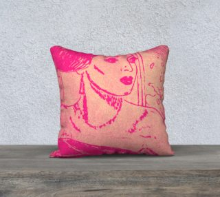 A night out pink pillow preview