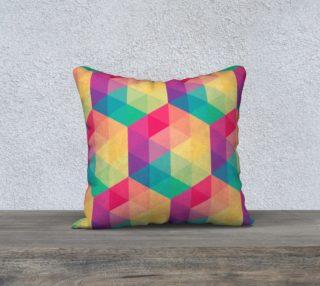 Aperçu de Colorful Pop Spectrum Abstract Triangles