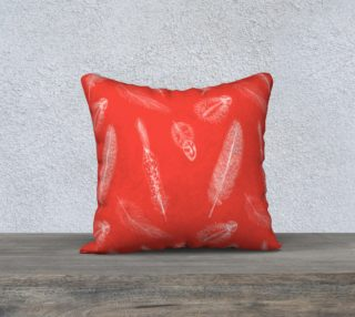 Feather Pattern Red Pillow  preview