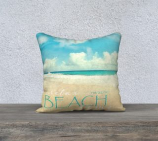 """Beach time 18"""" white back preview"""
