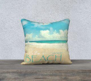 "Aperçu de Beach time 18"" white back"