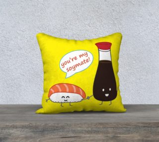 You're My Soymate! Pillow preview